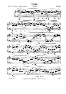 Suite No.3 in D Minor, HWV 428: Movements I-II by Georg Friedrich Händel
