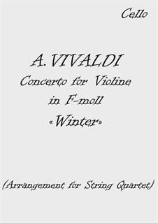 Violin Concerto No.4 in F Minor 'L'inverno', RV 297: Arrangement for string quartet by Antonio Vivaldi