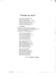Canada for Ever: Canada for Ever by Arthur J. Ainsley
