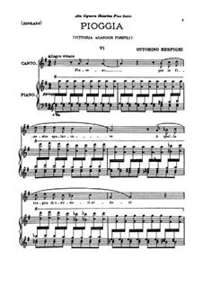 Three Songs: Three Songs by Ottorino Respighi