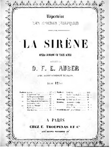 La sirène: Piano-vocal score by Daniel Auber