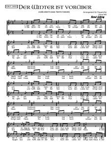 Der Winter ist vorüber: For female choir, Op.345 by folklore