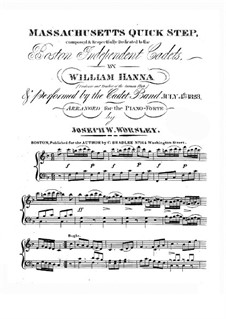 Massachusetts Quick Step: For piano by William Hanna