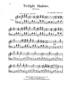 Twilight Shadows. Reverie for Piano: Twilight Shadows. Reverie for Piano by Jerome Heller