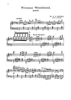 Winona Woodland. March: For piano by Anna J. Hopkins