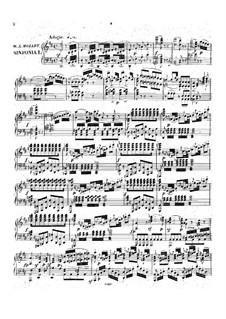 Symphony No.38 in D Major 'Prague', K.504: Arrangement for piano by Wolfgang Amadeus Mozart
