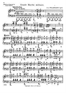 Grande marche militaire, Op.31: For piano by Hermann Adolf Wollenhaupt