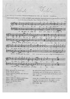 Piano-vocal score: Latin and english texts by John Francis Wade