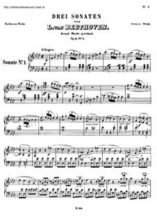 Sonatas for Piano (Selected): Eight Sonatas, Op.2, 7 10, 13 by Ludwig van Beethoven