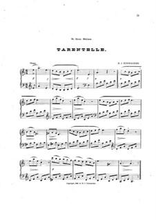 Tarantella for Piano: Tarantella for Piano by Hubert J. Schonacker