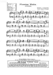 Floreine Waltz: Floreine Waltz by Ernest J. Schuster