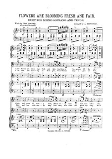 Flowers are Blooming Fresh and Fair: For two voices and piano by Unknown (works before 1850)