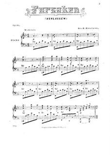Forsaken, for Piano, Op.30: Forsaken, for Piano by George H. Riegelmann