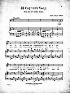 El Capitan: Act I, No.5 You See in Me by John Philip Sousa