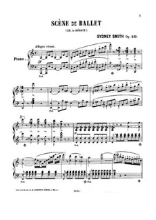 Scène de ballet, Op.100: Arrangement for piano by Charles Auguste de Beriot