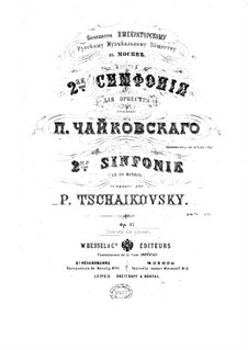 Symphony No.2 in C Minor 'Little Russian', TH 25 Op.17: For piano four hands by Pyotr Tchaikovsky
