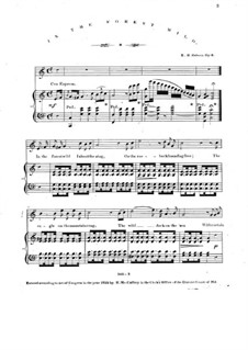 In the Forest Wild, Op.6: Piano-vocal score by E. H. Osborn