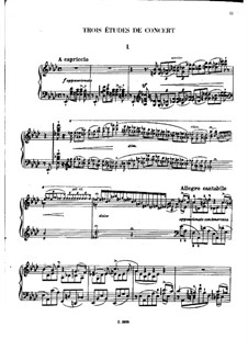 Three Concert Etudes, S.144: Complete set by Franz Liszt