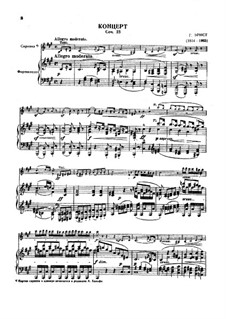 Concerto for Violin and Orchestra, Op.23: For violin and piano by Heinrich Wilhelm Ernst