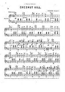 Chestnut Hill, for Piano: Chestnut Hill, for Piano by Joseph Rizzo