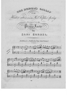 The Hunter's Gallop: For piano by Unknown (works before 1850)