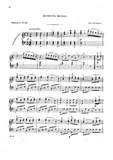 Hunting Rondo: For piano by folklore