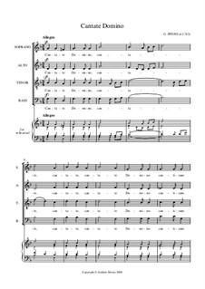 Cantate Domino: Vocal score by Giuseppe Pitoni