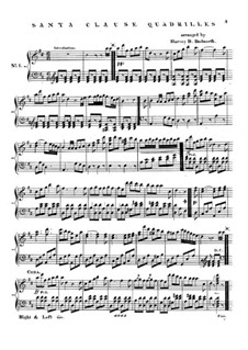 Santa Claus Quadrilles: For piano by Unknown (works before 1850)