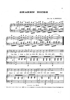 Shaken Dices. Song for Voice and Piano: Shaken Dices. Song for Voice and Piano by folklore
