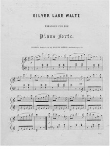 Silver Lake Waltz: For piano by Unknown (works before 1850)