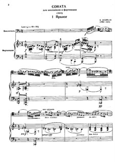 Sonata for Cello and Piano in D Minor, L.135: Score by Claude Debussy