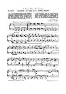 Zunian (Kor-kok-shi) Clown Dance: For piano by folklore