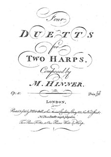 Four Duets for Two Harps, Op.10: First part by Philippe Joseph Hinner