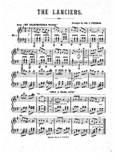 The Lanciers: For piano by Unknown (works before 1850)