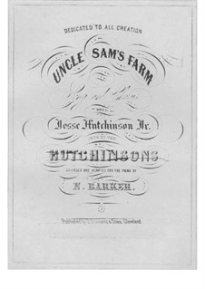 Uncle Sam's Farm: For voices and piano by folklore