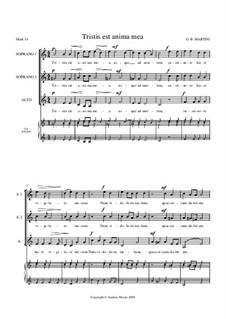 Tristis est anima mea: For SSA by Giovanni Battista Martini