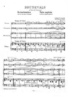 Bridal waltz: For violin, cello, harmonium and piano by Niels Wilhelm Gade