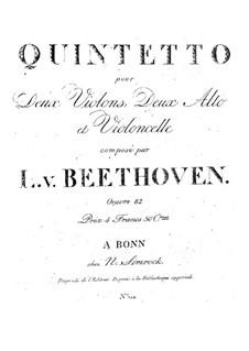 String Quintet in E Flat Major: String Quintet in E Flat Major by Ludwig van Beethoven