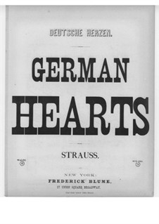 German Hearts, Op.65: German Hearts by Eduard Strauss