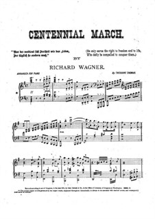 Grand Festival March, WWV 110: For piano by Richard Wagner