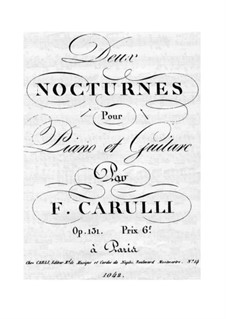 Nocturne for Guitar and Piano No.1, Op.131: Guitar part by Ferdinando Carulli