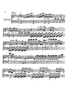 Sonata for Harpsichord (or Piano) and Violin: Sonata for Harpsichord (or Piano) and Violin by Giuseppe Sarti