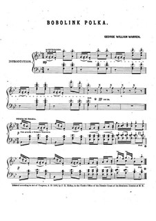 Bobolink Polka: Bobolink Polka by George William Warren