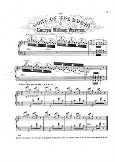 The Song of the Robin: For piano by George William Warren