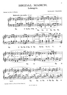 Bridal Chorus: For piano (with fingering) by Richard Wagner