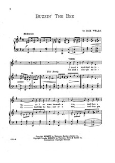 Buzzin' the Bee: Piano-vocal score by Jack Wells
