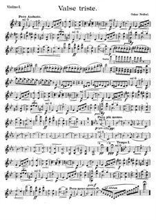 Valse triste for String Quartet: Parts by Oskar Nedbal