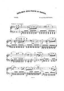 Herz, mein Herz, Warum so traurig: For piano by Carl Maria von Weber