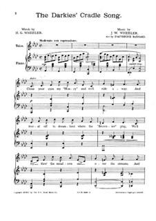 Darkies' Cradle Song: Darkies' Cradle Song by James W. Wheeler