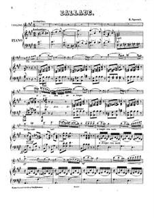 Ballade for Violin with Piano: Ballade for Violin with Piano by E. Sperati